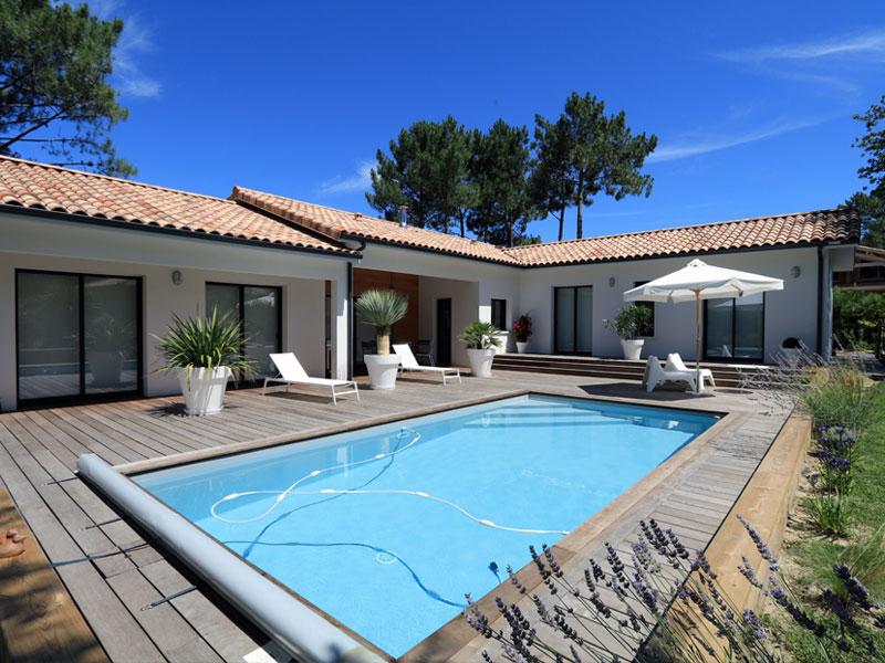 Dans les Landes, une jolie maison contemporaine de 155 m² | IGC ...