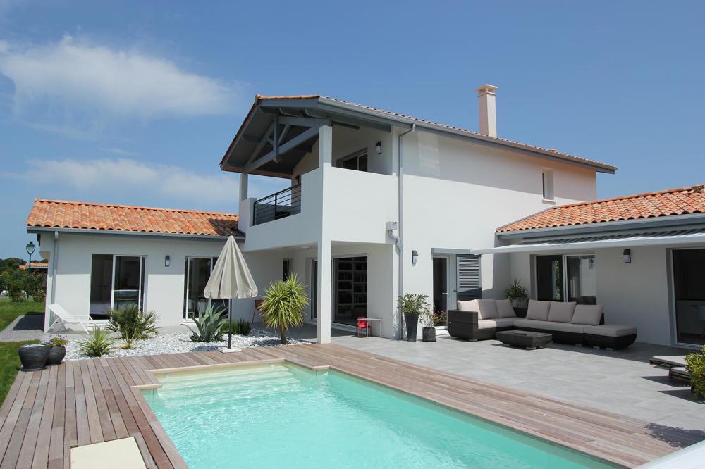 la maison estivale basque igc construction. Black Bedroom Furniture Sets. Home Design Ideas