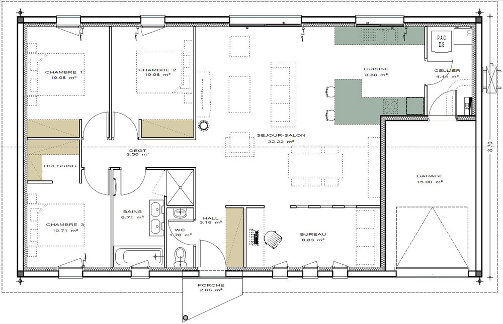 Plans de maisons igc construction - Plan maison 100m2 a etage ...
