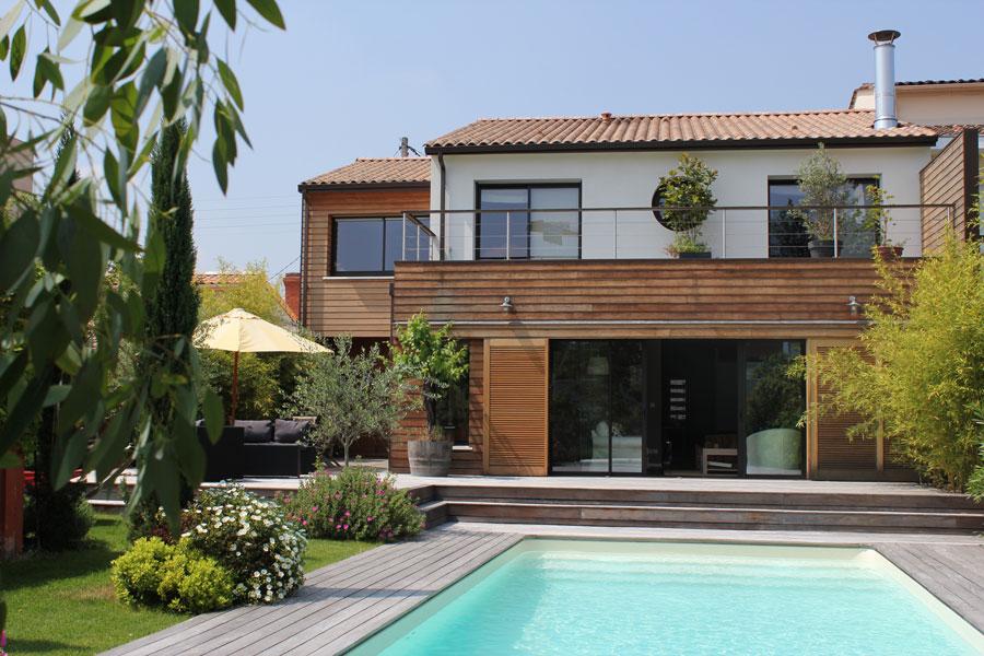 la maison de ville contemporaine igc construction. Black Bedroom Furniture Sets. Home Design Ideas