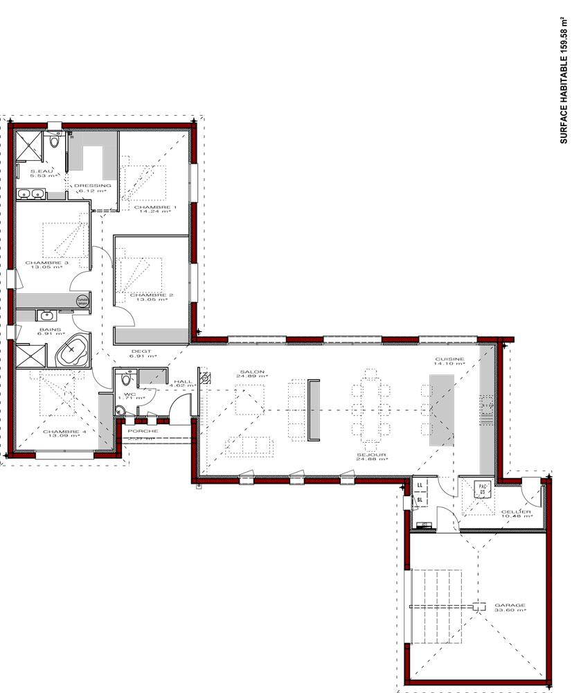 Plans de maisons igc construction - Plan d agrandissement de maison ...