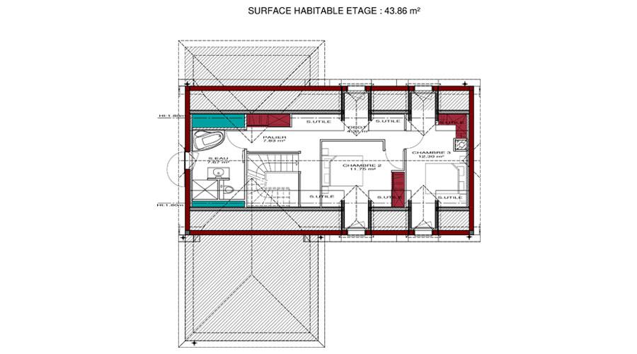 exemple plan maison etage gratuit