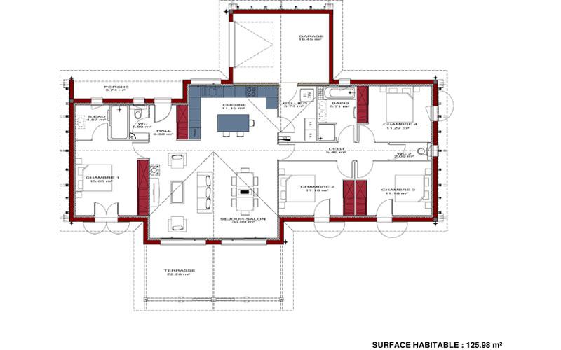 Plan de maison régionale Maison Basque · Agrandir Voir ... 072a7147c22d