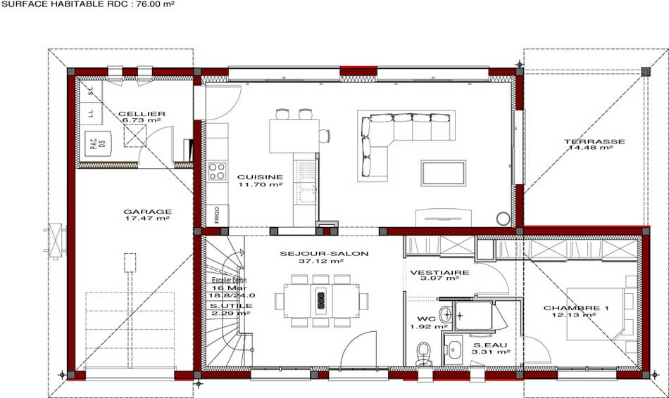 Plans de maisons igc construction - Plan de construction d une maison ...