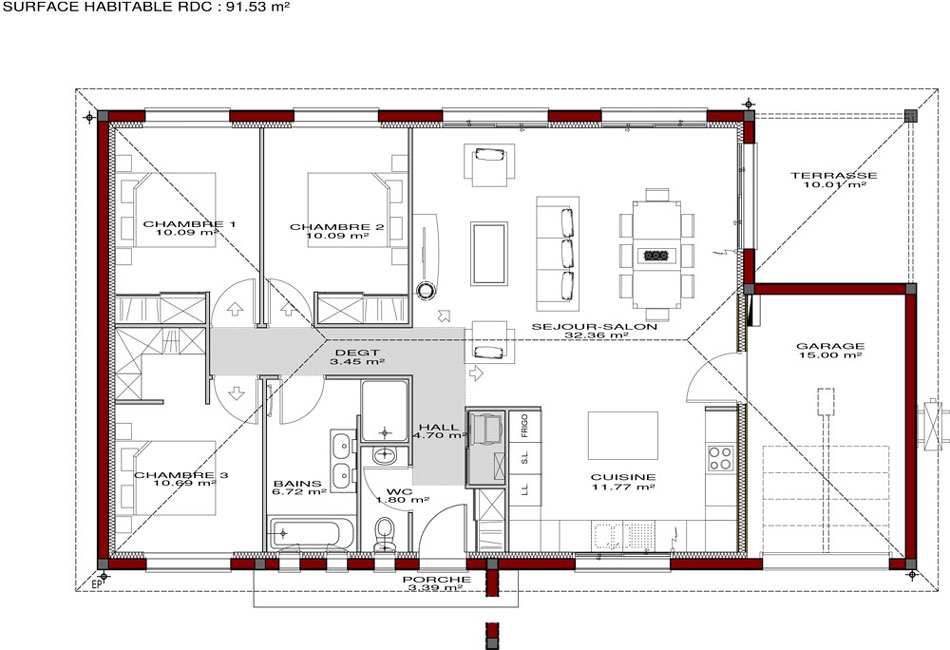 Maison toulousaine igc construction - Plan de construction d une maison ...