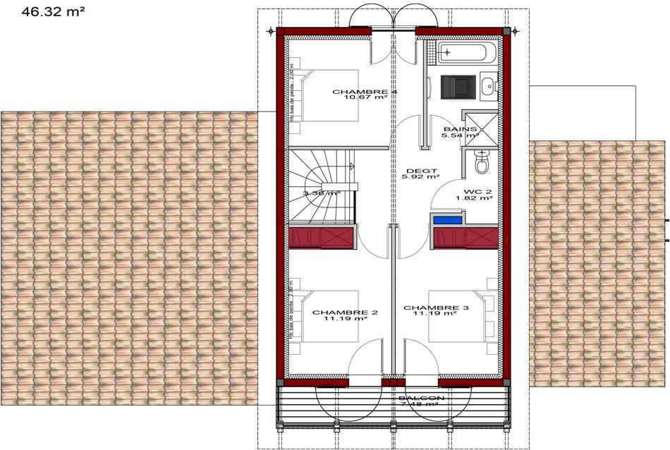 plan de maison à étage gratuit