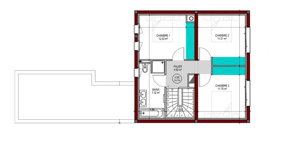 Plan De Maison A Etage Gratuit Faire Construire Sa Maison