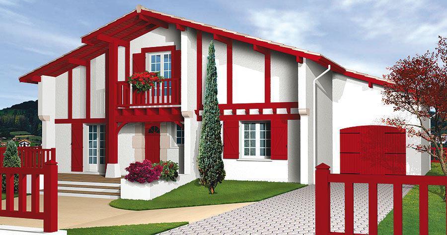 plan maison basque traditionnelle ventana blog. Black Bedroom Furniture Sets. Home Design Ideas