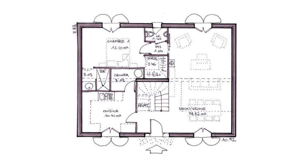 Maison bastide arcachonnaise igc construction for Plan maison igc