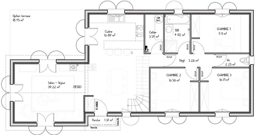 Maison p rigourdine igc construction for Plan maison igc