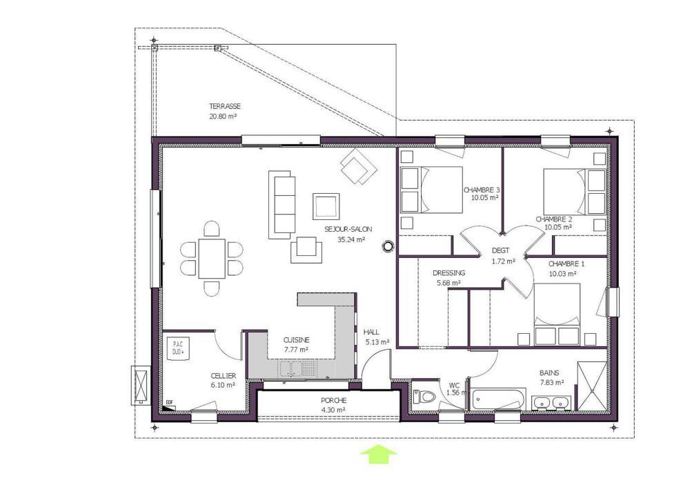 07d255d69eb9f Plan de maison moderne Hélios. Agrandir Agrandir Agrandir Voir le modèle de  maison