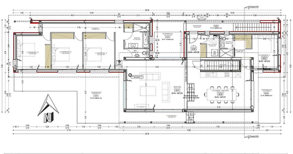 plan de maison landaise
