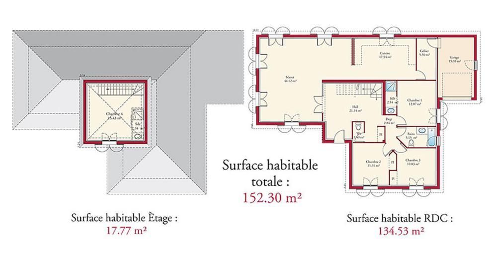 plan de maison quercynoise