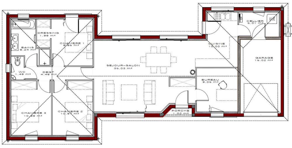 Maison gaia 105 igc construction for 105 plan