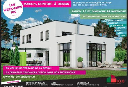 Week-End Maison, Confort et Design dans nos showrooms, 23 et 24 Nov